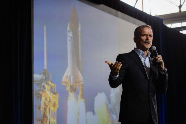 Keynote speaker Chris Hadfield