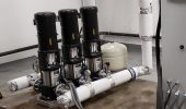 Triplex pump package installation